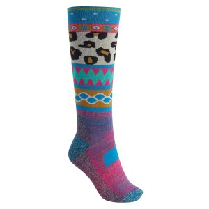 Burton Womens Performance  Midweight Socks 2020 Wildstyle M