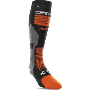 ThirtyTwo Asi Merino Vapor Sock Black/Orange S/M