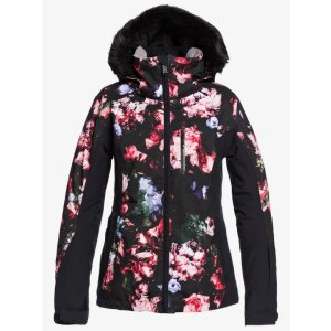 Roxy Womens Jet Ski Premium Jacket True Black Blooming...